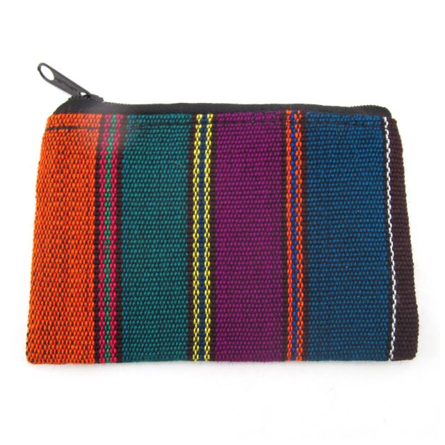 Fair Trade Handmade Guatemalan Ikat Coin Bag