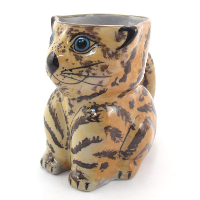 Fair Trade Handmade Guatemalan Ceramic Cat Mug