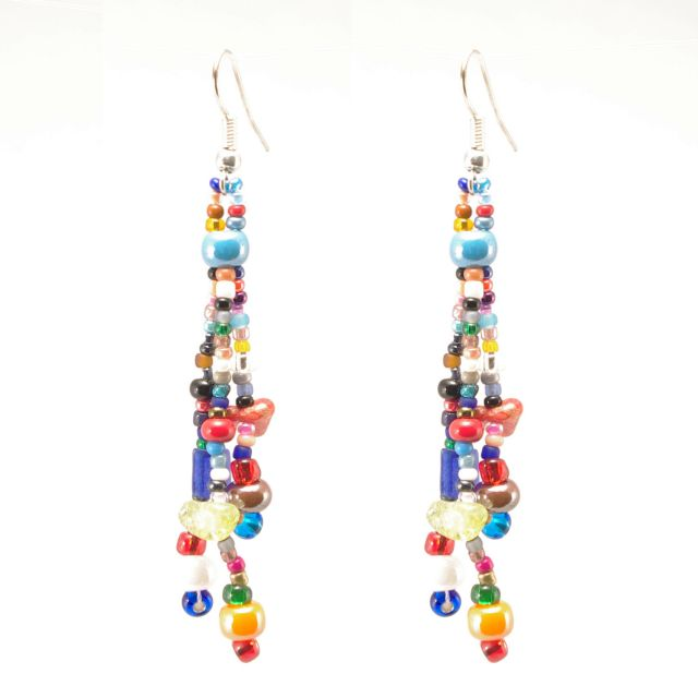 Lucia's Imports Wholesale Fair Trade Handmade Guatemalan Beaded Gumball Earrings