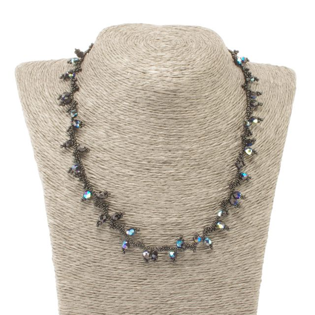 Handmade Fair Trade Guatemalan Necklace Jewelry Choker Crystals