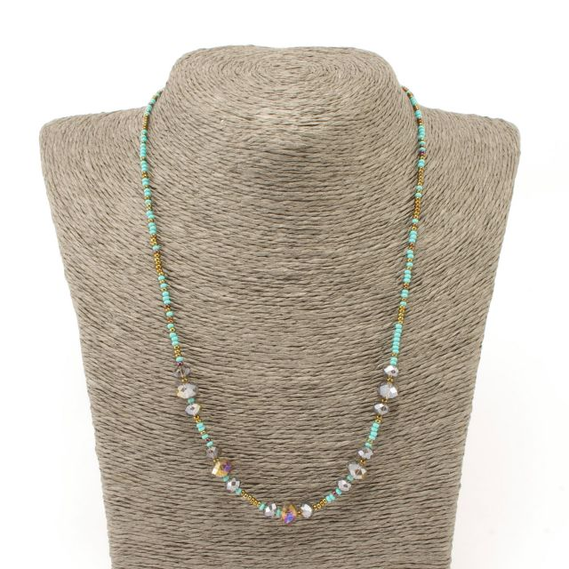 Single Strand Necklace Handmade Beaded Guatemalan Jewelry Fair Trade Crystal Necklace