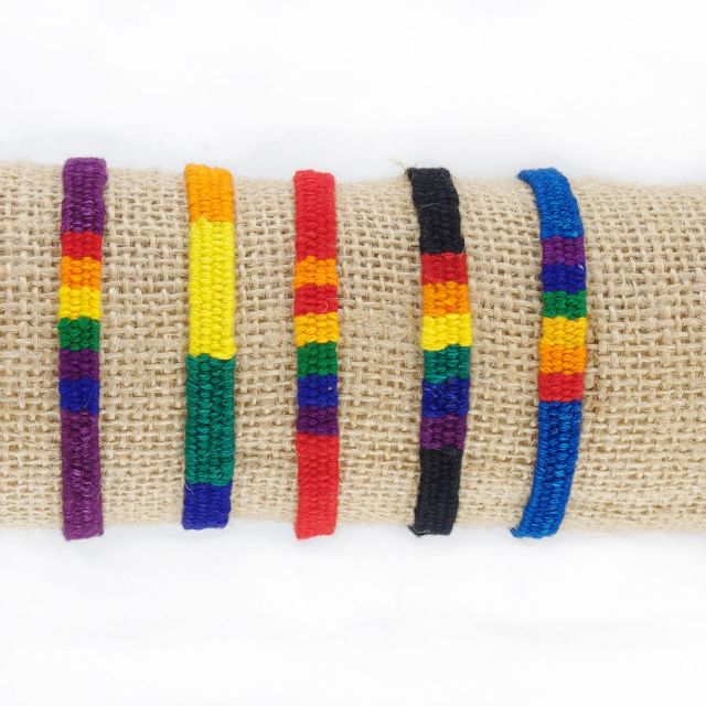 Fair Trade Handmade Guatemalan Rainbow San Antonio Friendship Bracelet