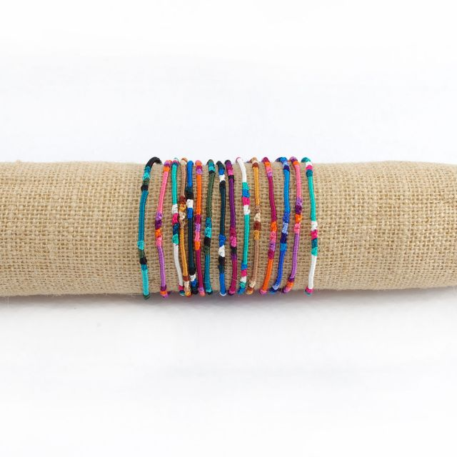 Fair Trade Handmade Guatemalan Resist Beaded Friendship Bracelet