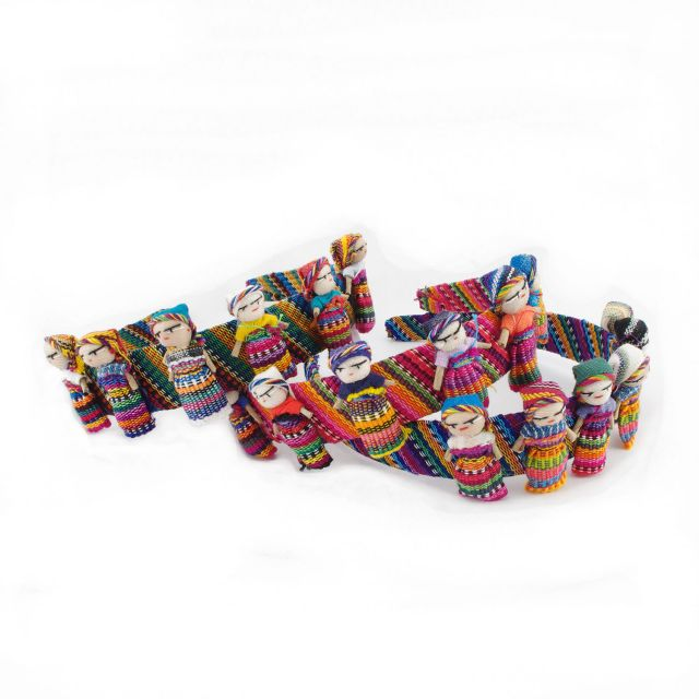 Fair Trade Handmade Guatemalan Worry Doll Headband