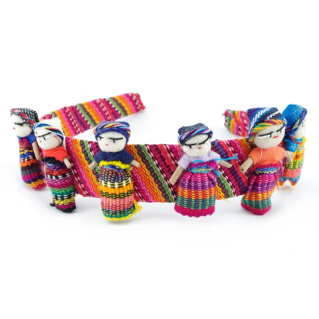 Lucia's Imports Fair Trade Handmade Guatemalan Worry Doll Headband
