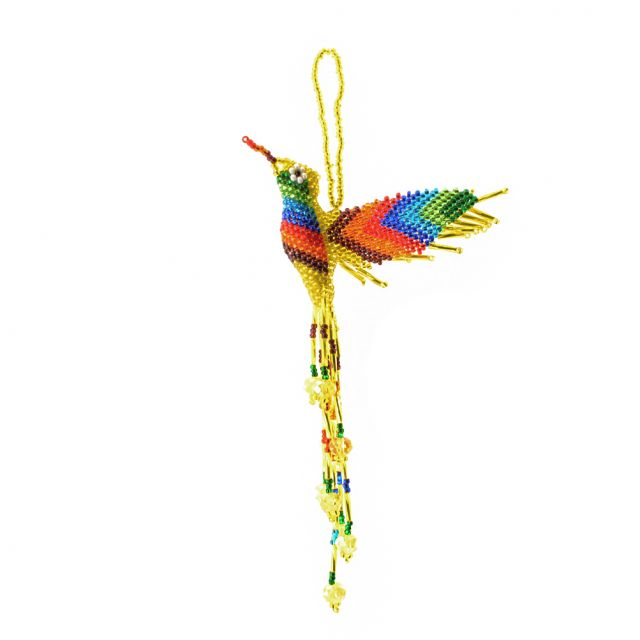 Fair Trade Handmade Guatemalan Large Beaded Hummingbird Ornament