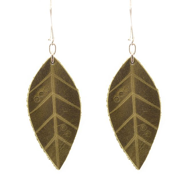 Fair Trade Handmade Guatemalan Large Leather Earrings
