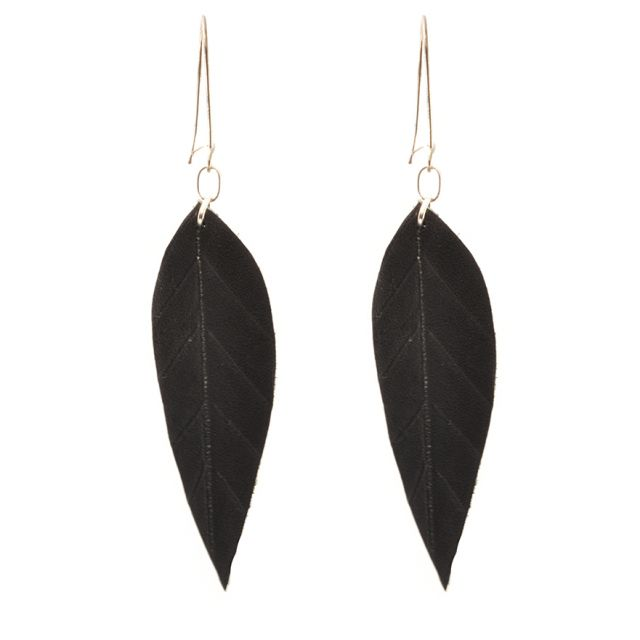 Fair Trade Handmade Guatemalan Medium Leather Earring