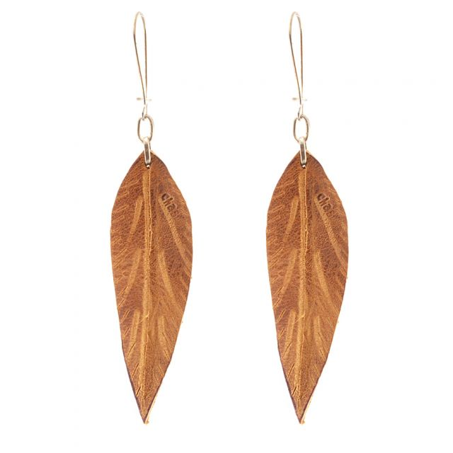 Lucia's Imports Fair Trade Handmade Guatemalan Medium Leather Earring