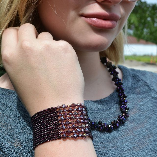 Lucia's Imports Fair Trade Handmade Bead and Crystal Theia Bracelet from Guatemala