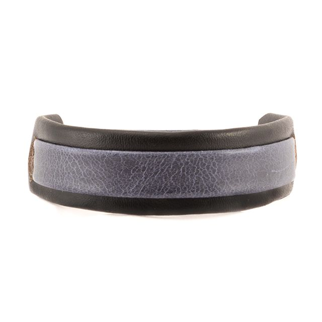 Fair Trade Handmade Guatemalan Men's Two Tone Leather Bracelet