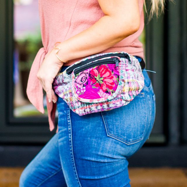 Fair Trade Upcycled Fanny Pack Ethical Bags Fair Trade Fanny Pack