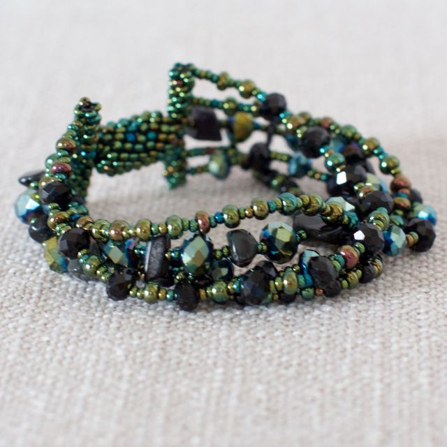Fair Trade Handmade Guatemalan Beaded Bracelet Magnetic