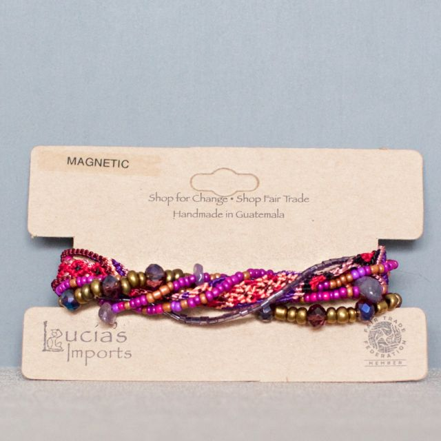 Lucia's Imports Wholesale fair trade handmade  guatemalan beaded  catalina bracelet