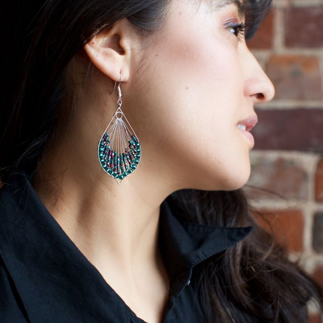 fair trade handmade guatemalan earring