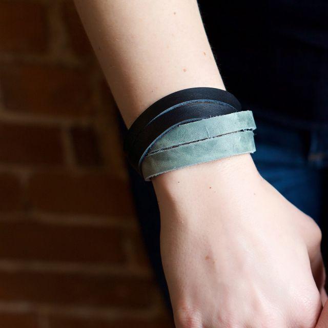 fair trade hand made guatemalan leather bracelet