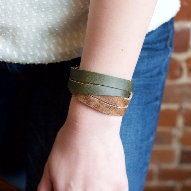 fair trade handmade guatemalan leather bracelet