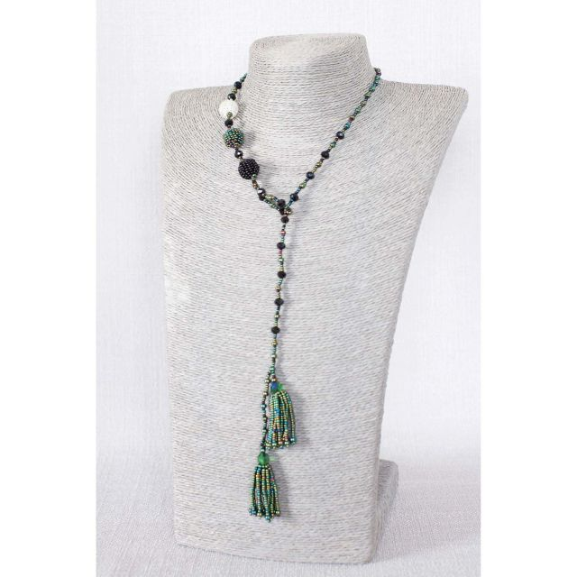 Lucia's Imports Fair Trade Handmade Guatemalan Beaded Fiesta Lariat Necklace