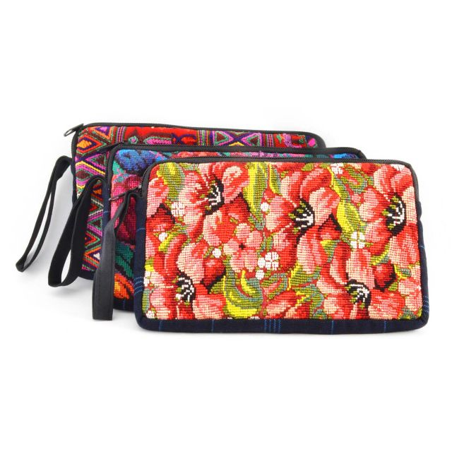 Lucia's Imports Fair Trade Handmade Guatemalan Fiesta Mini Tablet Case Accessory Bag Pouch Ethical Bag