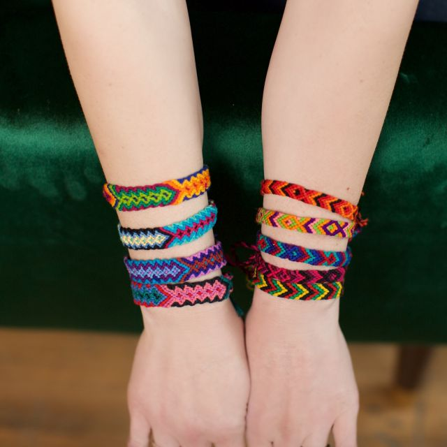 Lucia's Imports Handmade Fair Trade Wide Friendship Bracelet from Guatemala