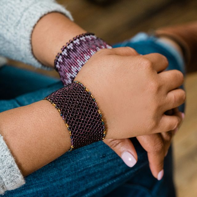 Lattice Cuff in Purple