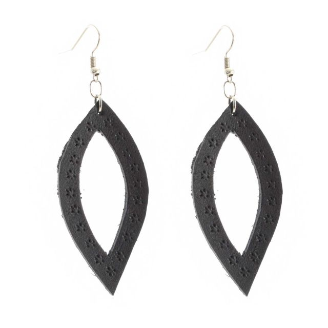 Leather, Earring, Fair Trade, Sustainable, Guatemalan, Leaf
