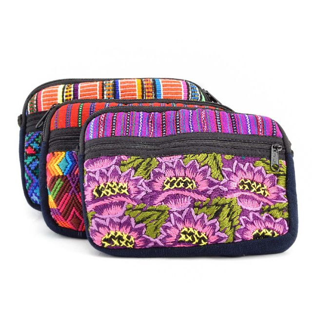 Fair Trade Handmade Guatemalan Oval Two Zipper Bag