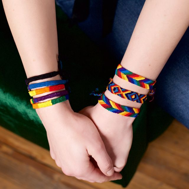 Lucia's Imports Fair Trade Handmade Rainbow Friendship Bracelet from Guatemala