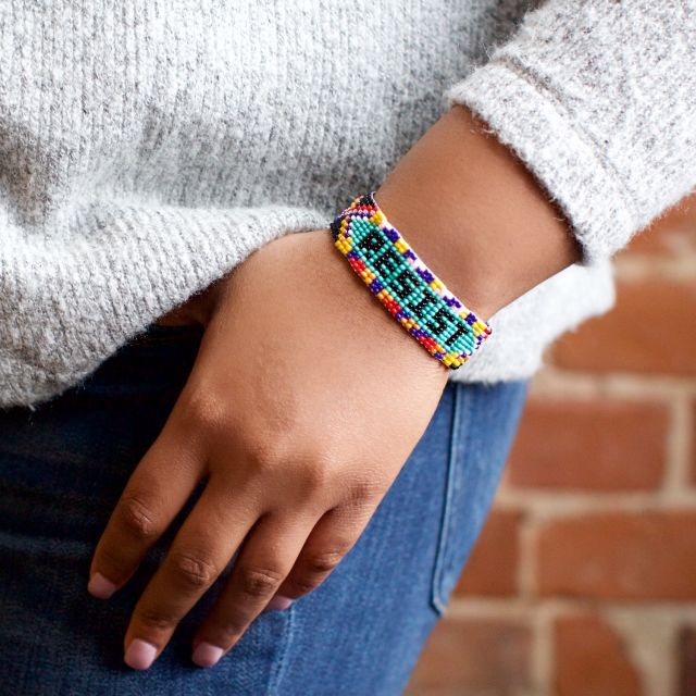 Lucia's Imports Fair Trade Handmade Guatemalan Resist Beaded Friendship Bracelet