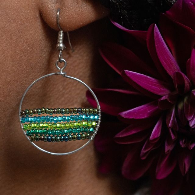 Lucia's Imports Fair Trade Handmade Guatemalan Beaded Selene Earring