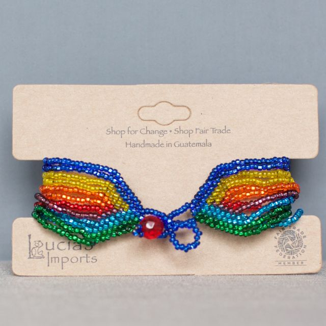 rainbow, pride, fair trade, beaded, guatemala, jewelry, bracelet, handmade