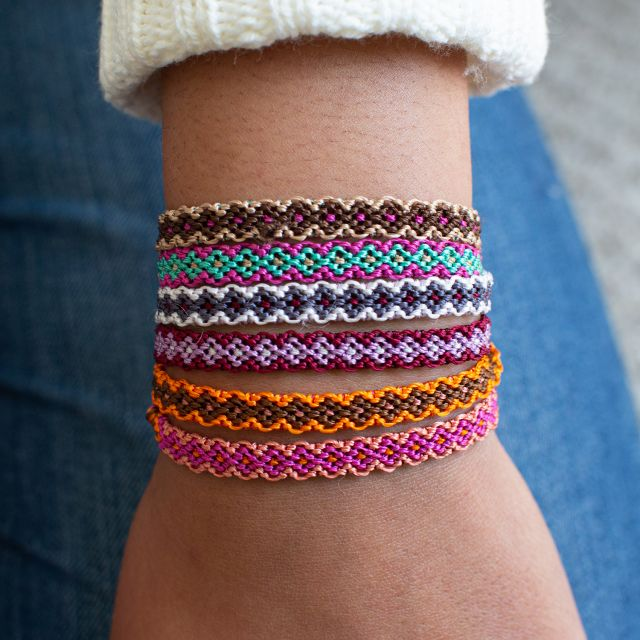 Lucia's Imports Fair Trade Guatemalan Flory Choker Wrap Bracelet Handwoven Ethical Jewelry