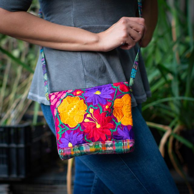 Fair Trade Recycled Huipile String Pouch