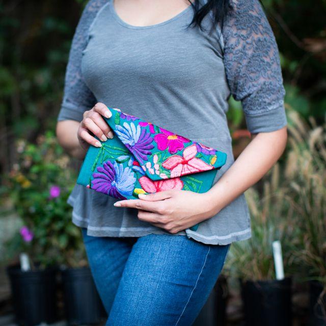 Guatemalan Fair Trade Fiesta Clutch Huipil Ethical Accessories Green Business Sustainable Handbag