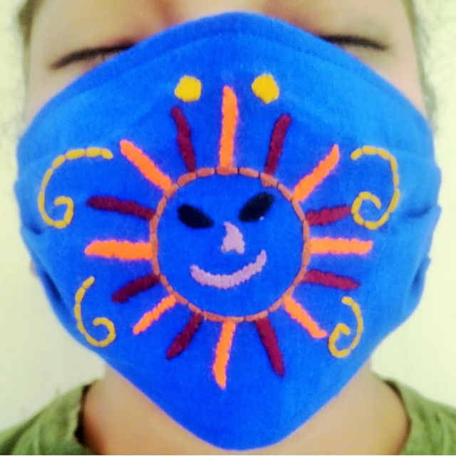 kids embroidered fair trade face mask