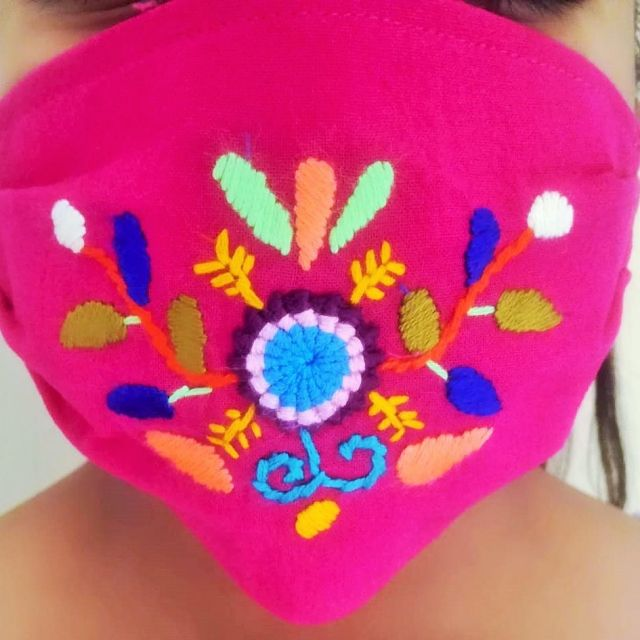 kids embroiderde fair trade face mask