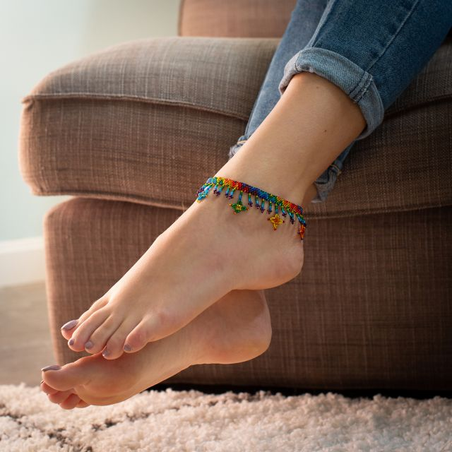 Fair Trade Beaded Star Anklet