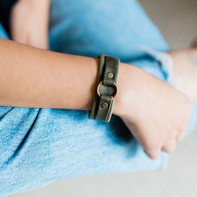 handmade fair trade leather karma bracelet from guatemala
