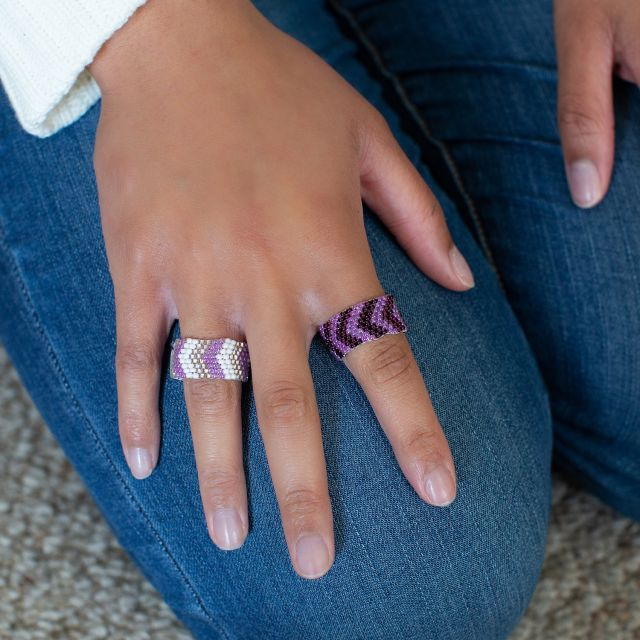 Lucia's Imports Wholesale Fair Trade Handmade Guatemalan Beaded Ring