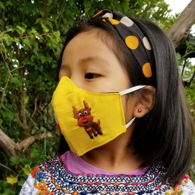 Children's Holiday Face Mask