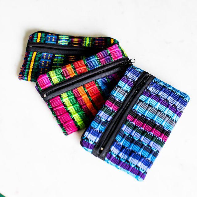 Guatemalan fair trade comalapa cosmetic bag