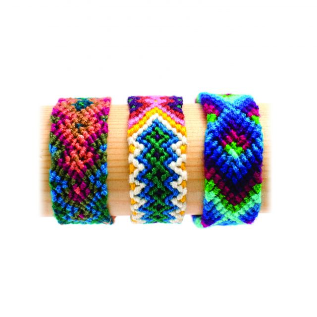 wide Guatemalan friendship bracelet