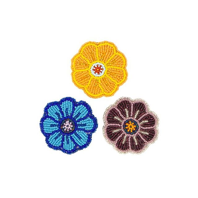 JBB-6  Flower Barrette/Broach