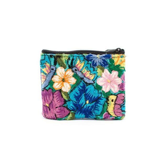 Fair Trade Handmade Guatemalan Flower Coin Bag