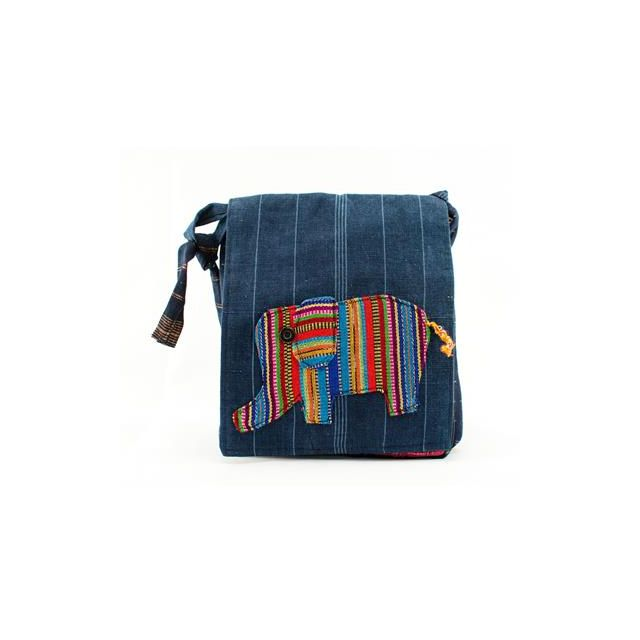Fair Trade Elephant Messenger Bag