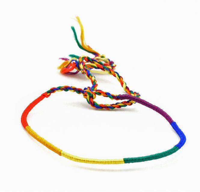 Lucia's Imports handmade fair trade guatemalan rainbow pride silk friendship bracelet