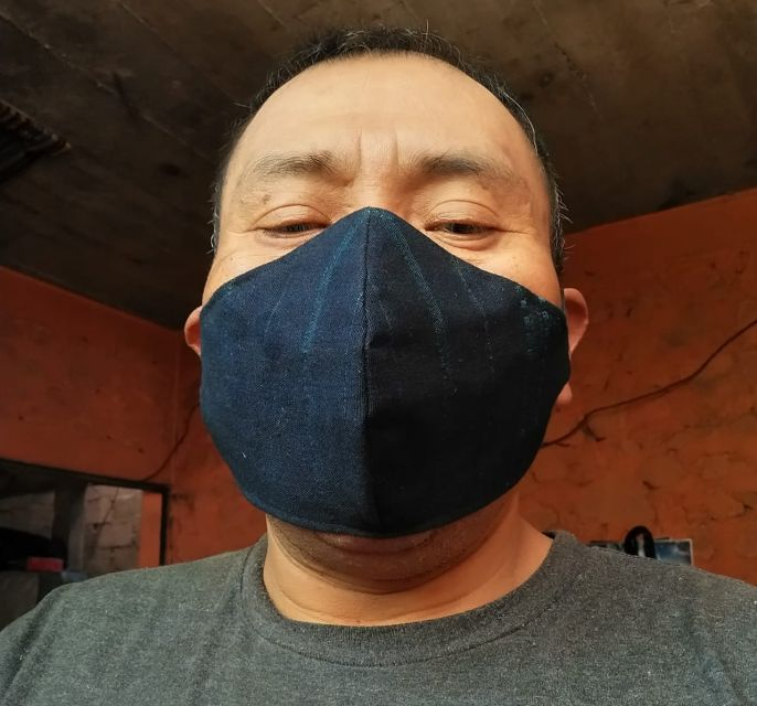 Fair Trade Guatemalan face mask from hand woven fabric