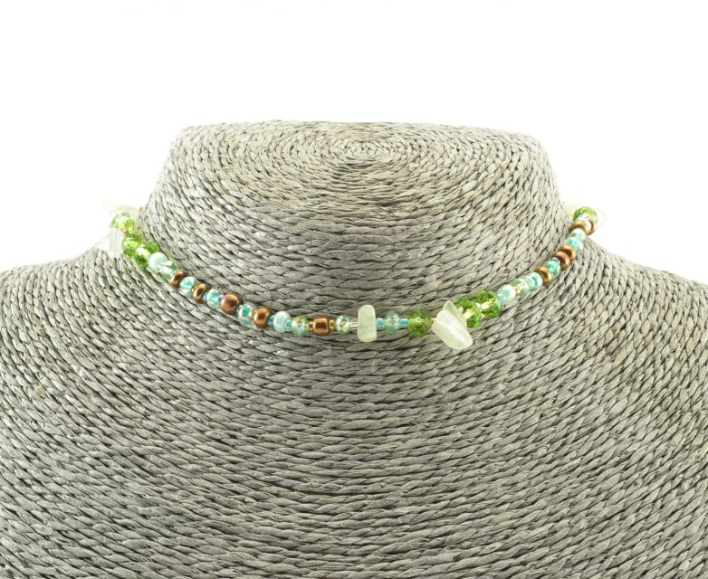 Guatemalan beaded choker or wrap bracelet fair trade handmade