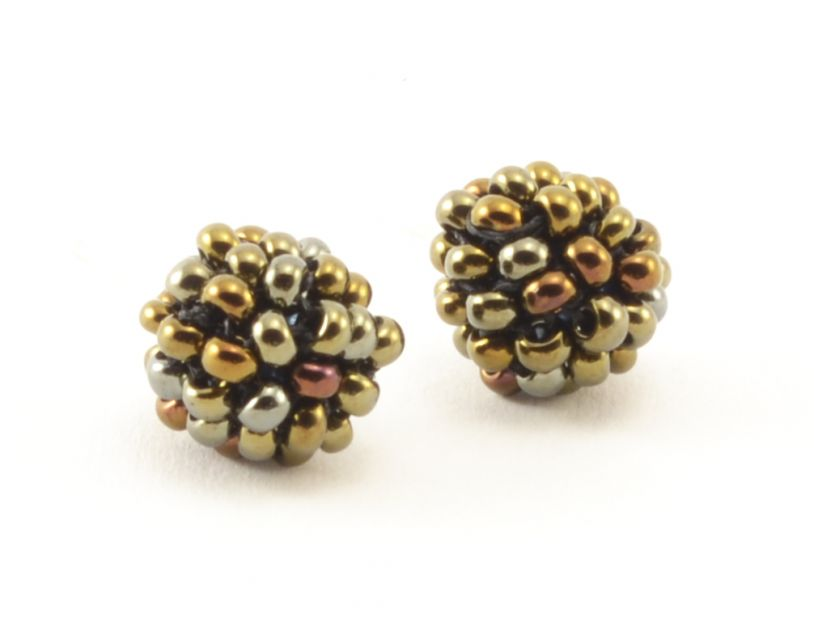 Fair Trade Handmade Guatemalan Beaded Nyx Stud Earring