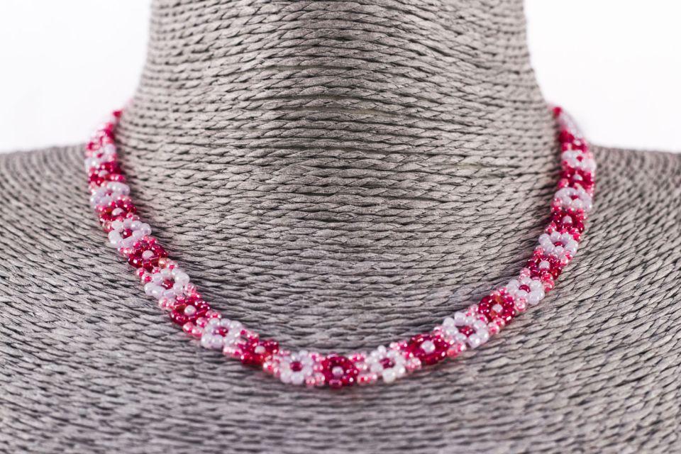 Fair Trade Handmade Guatemalan Beaded Flower Necklace